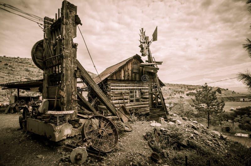Jerome Arizona-windmolen royalty-vrije stock afbeelding