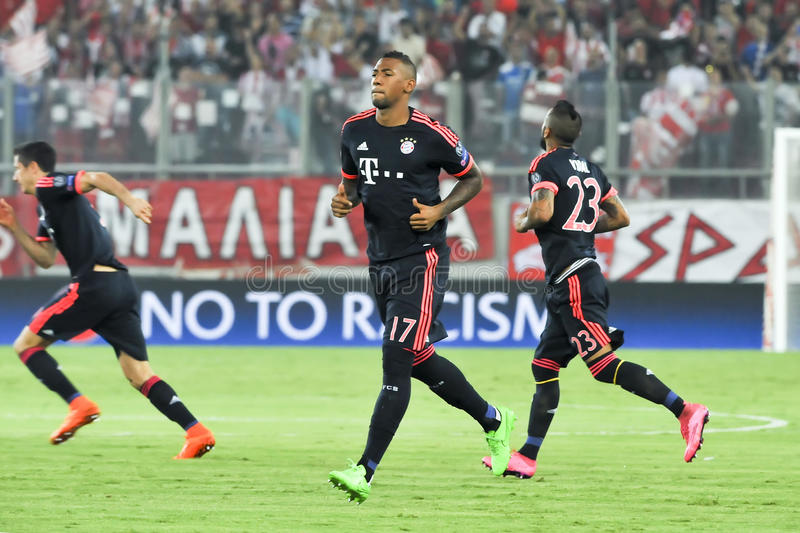 Jerome Boateng during the UEFA Champions League game between Ol royalty free stock photos