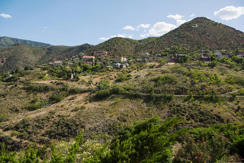 Jerome, a town in the Black Hills of Yavapai County, Arizona royalty free stock image