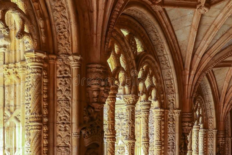 Jeronimos修道院或修道院在里斯本 库存照片