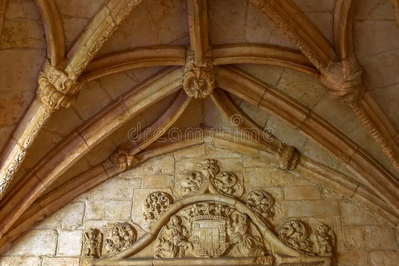Jeronimos修道院或修道院在里斯本 免版税库存图片