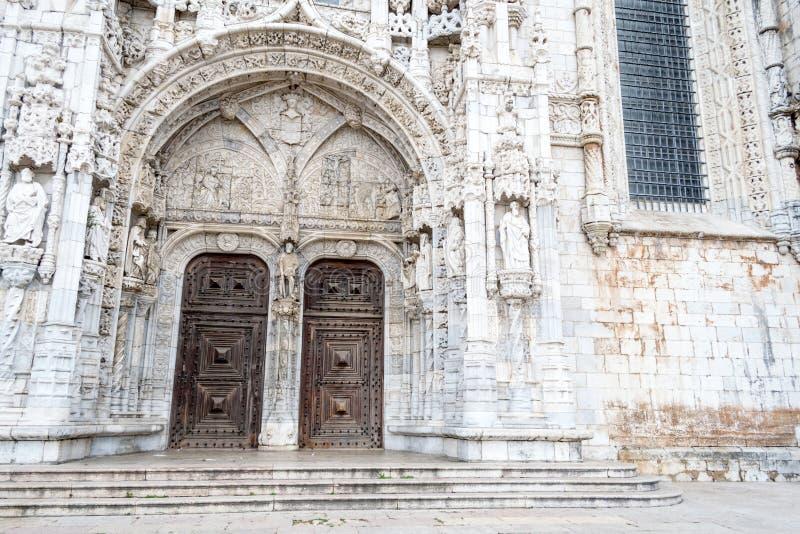Jeronimos修道院& x28的南部门户; 贝拉母, POrtugal& x29; 库存照片