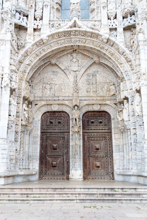 Jeronimos修道院& x28的南部门户; 贝拉母, POrtugal& x29; 库存图片