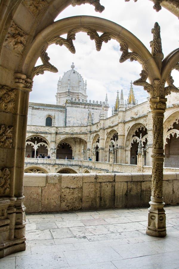 Jeronimos圣玛丽亚修道院和教会  里斯本 免版税图库摄影