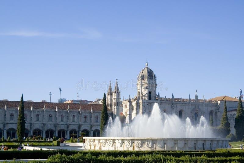Jeronimos Kloster in Lissabon lizenzfreie stockfotos