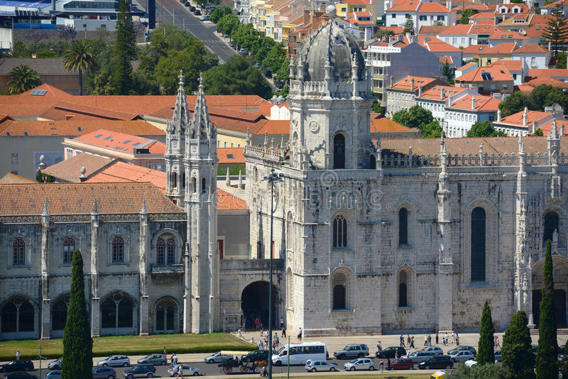 Jeronimos kloster, Lissabon, Portugal royaltyfri bild