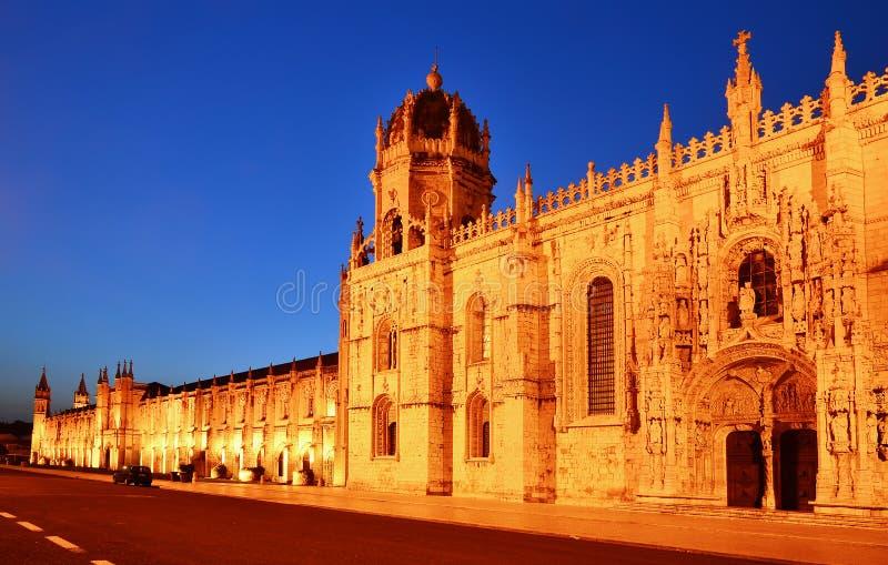 jeronimos Lisbon monaster Portugal fotografia royalty free
