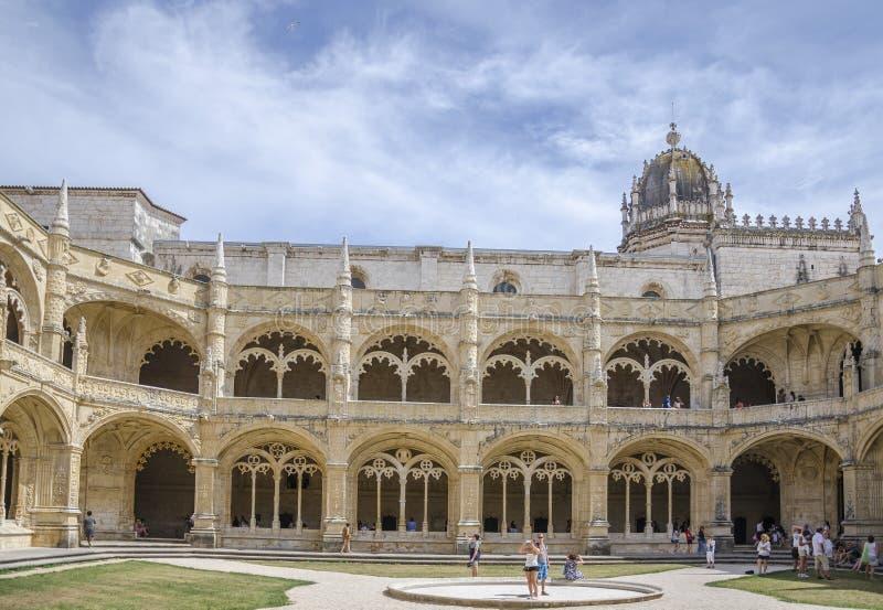 jeronimoslisbon kloster portugal arkivfoto