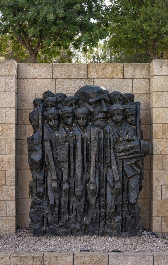 JEROZOLIMA, IZRAEL †'4 2017 KWIECIEŃ: Yad Vashem †'zabytek J zdjęcia stock