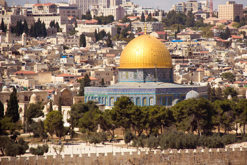 Jerozolima, Izrael, Aksa meczet na świątynnej górze fotografia royalty free