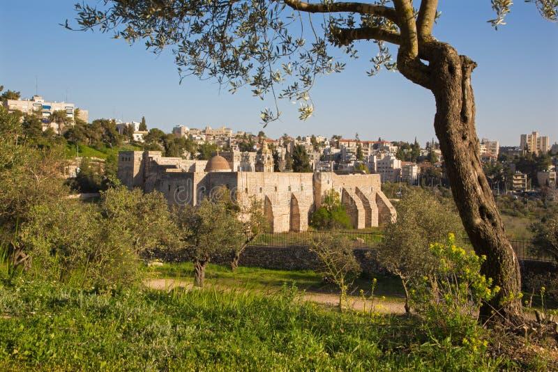Jerozolima - monaster krzyż obrazy stock