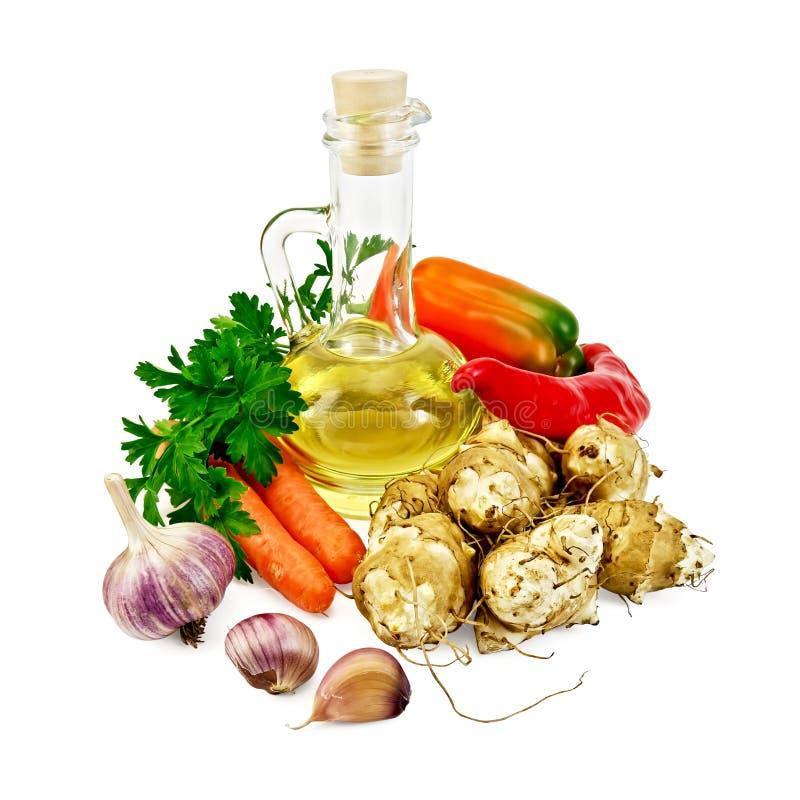 Download Jerozolimscy Karczochy Z Warzywami I Olejem Obraz Stock - Obraz złożonej z sadło, liść: 28974285