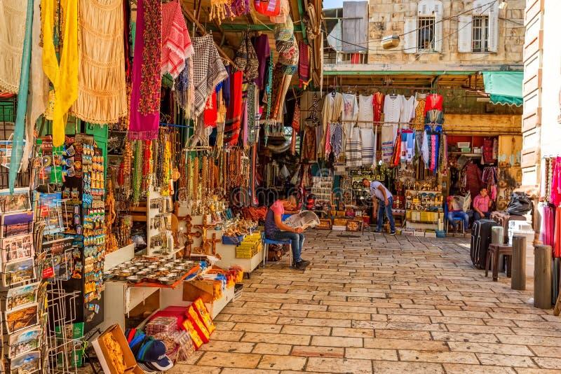 Jerozolimscy Mali sklepy obrazy stock