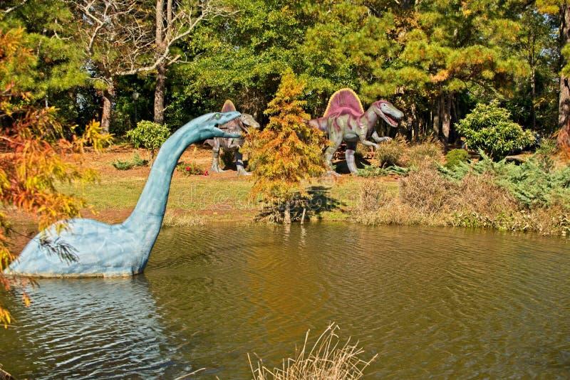 Jerrassic公园Pungo,弗吉尼亚 免版税库存照片