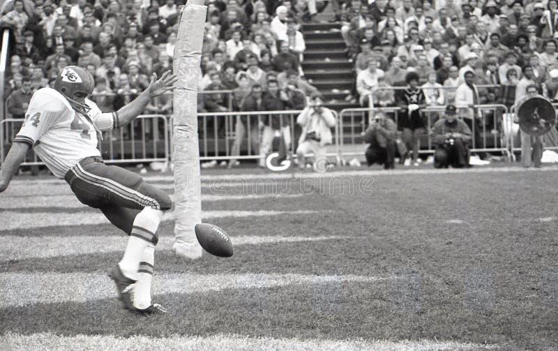 Jerrel Wilson punter Kansas City Chiefs. Image taken from a b&w negative royalty free stock images