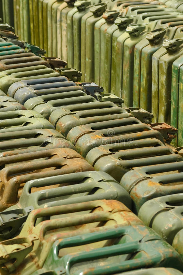 Download Jerry cans stock image. Image of metal, petrol, stockpile - 10364651