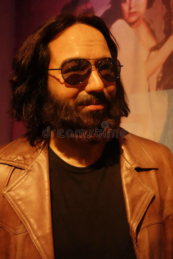 Jerry Garcia Wax Figure fotografia stock