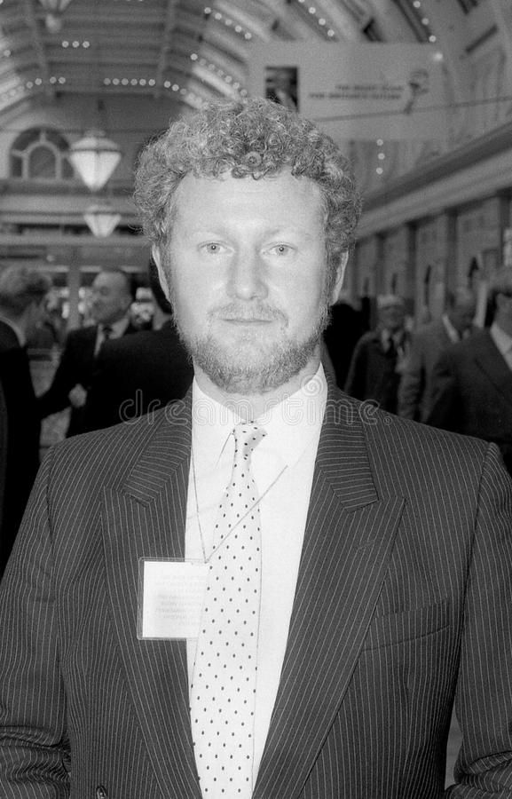 Jerry Hayes. Conservative party Member of Parliament for Harlow, attends the party conference in Blackpool, England on October 10, 1989 stock photography