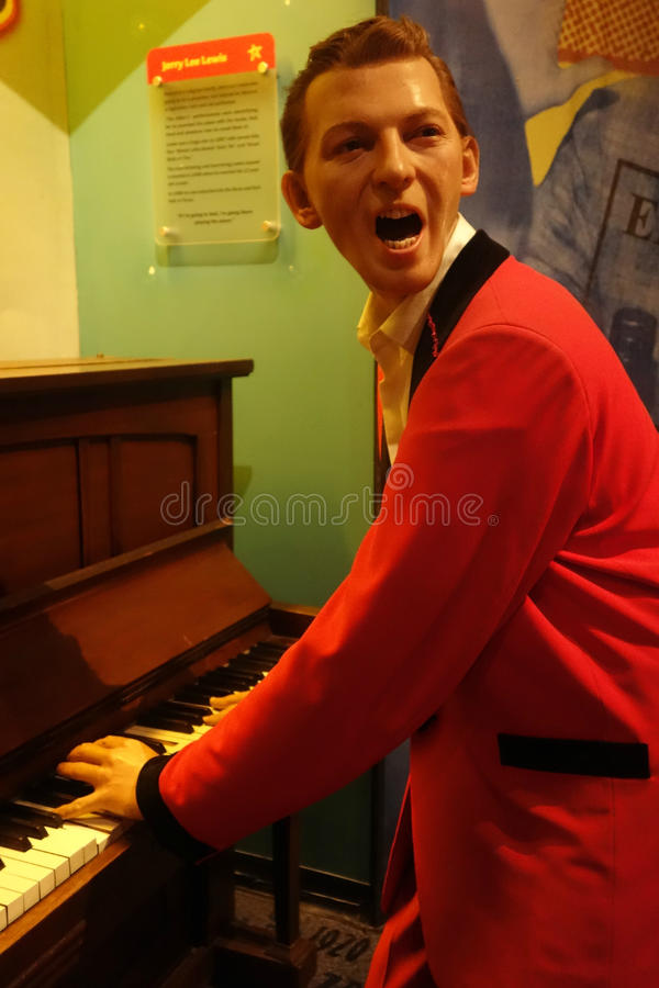 Jerry Lee Lewis Wax Figure royalty free stock photos