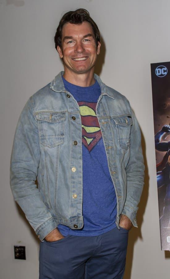 Jerry Oâ €™Connell bij de première van Reign van Supermannen stock afbeelding