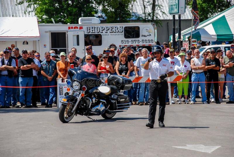 Jerry Palladino comemora sua manifestação em Leesburg Bikefest imagem de stock