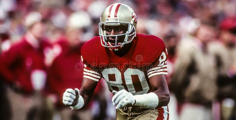 Jerry Rice immagine stock