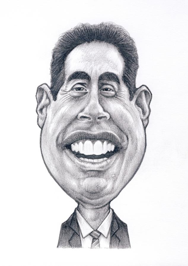 Jerry Seinfeld Caricature photographie stock libre de droits