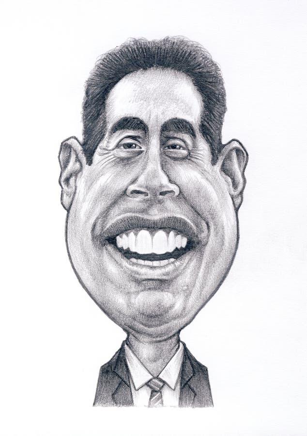 Jerry Seinfeld Caricature fotografía de archivo libre de regalías