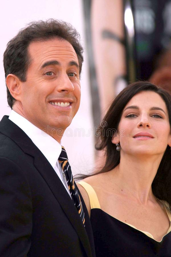 Jerry Seinfeld, Jessica Seinfeld imagenes de archivo