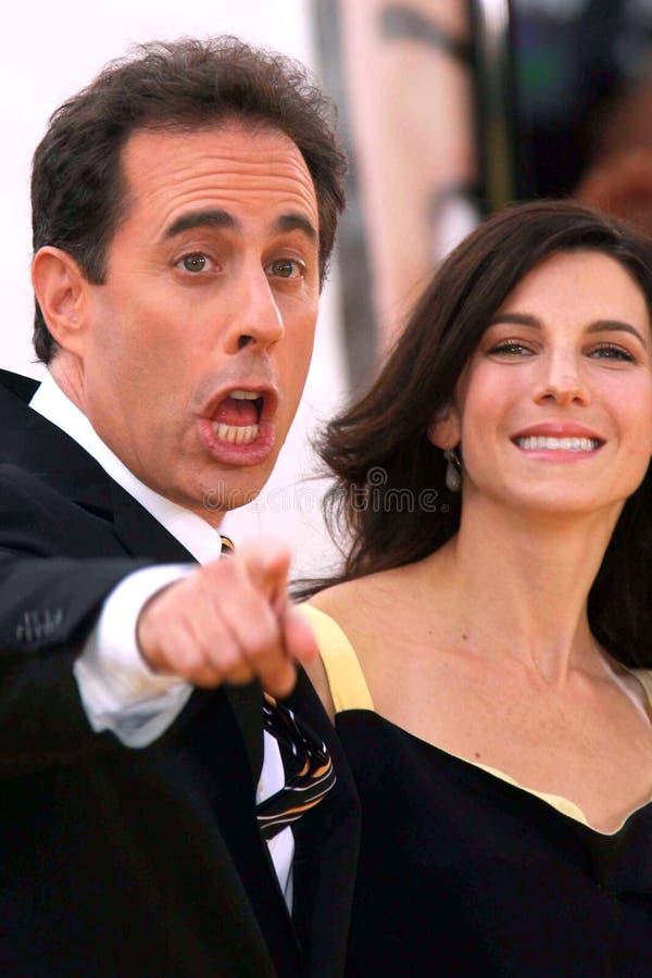 Jerry Seinfeld, Jessica Seinfeld imágenes de archivo libres de regalías