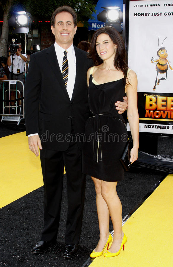 Jerry Seinfeld y Jessica Seinfeld fotografía de archivo