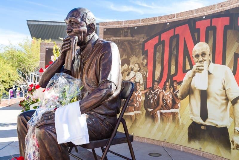 Jerry Tarkanian Statue e memoriale fotografie stock