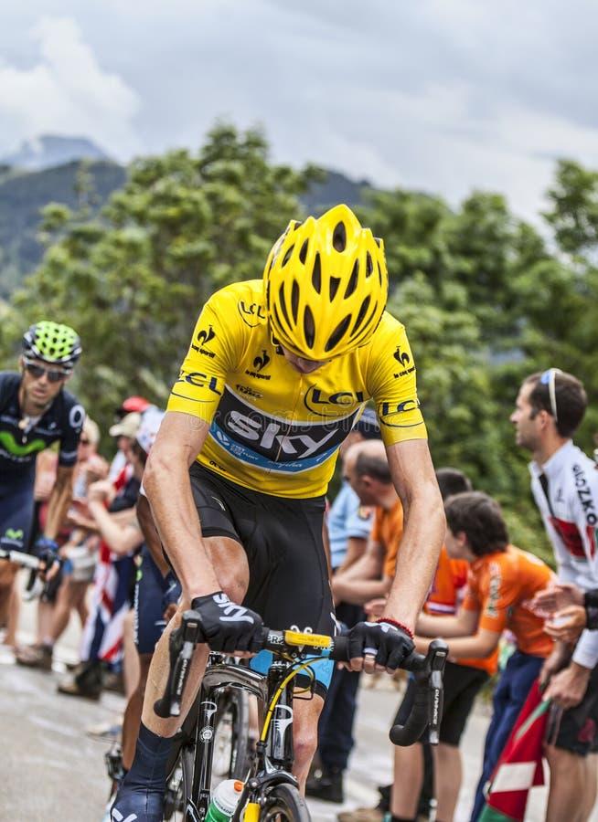 Jersey amarillo en Alpe d Huez