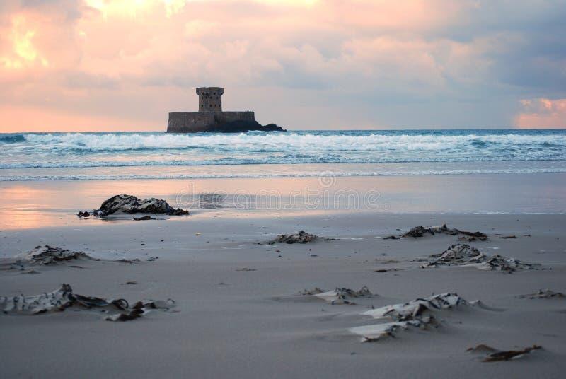 Jersey beach stock image