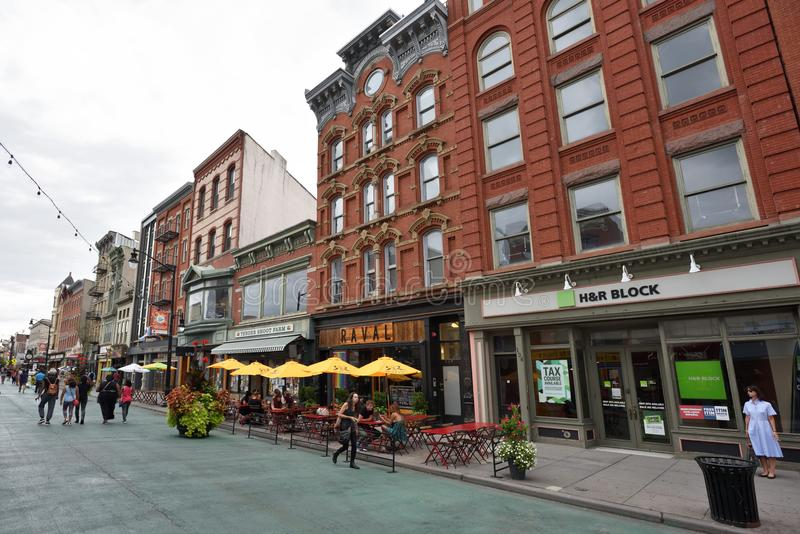 Jersey City do centro, NJ imagem de stock