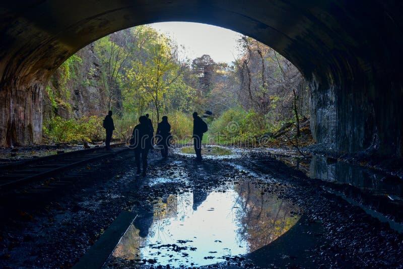 Jersey- Citytunnel-Bahngleise stockfotos