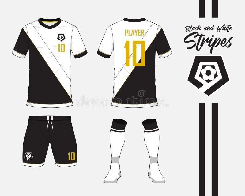 Jersey De Fútbol, Colección Del Equipo Del Fútbol En Concepto Blanco ...