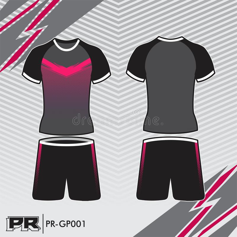 JERSEY DESIGN 001 GREY AND PINK royalty free stock image
