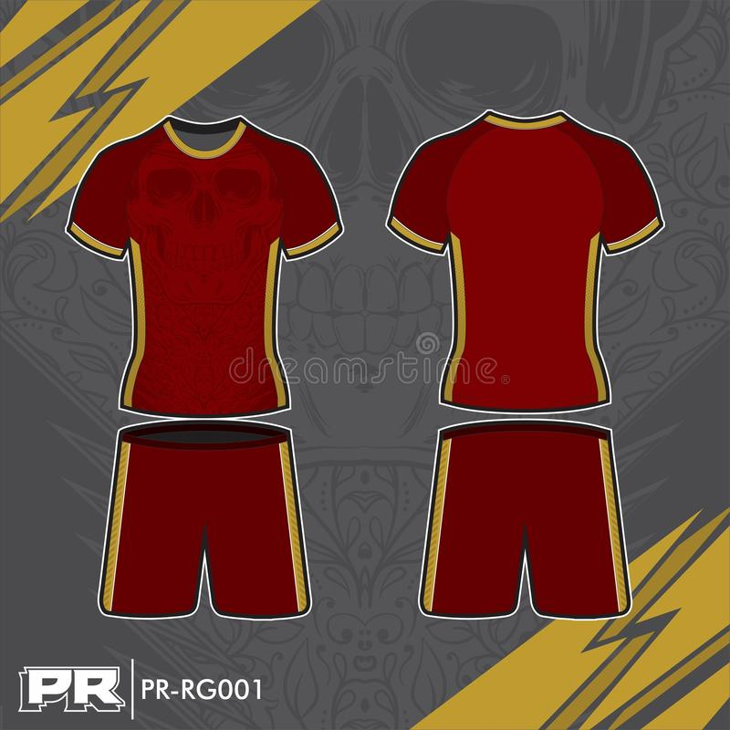 JERSEY DESIGN 002 RED AND GOLD royalty free stock image