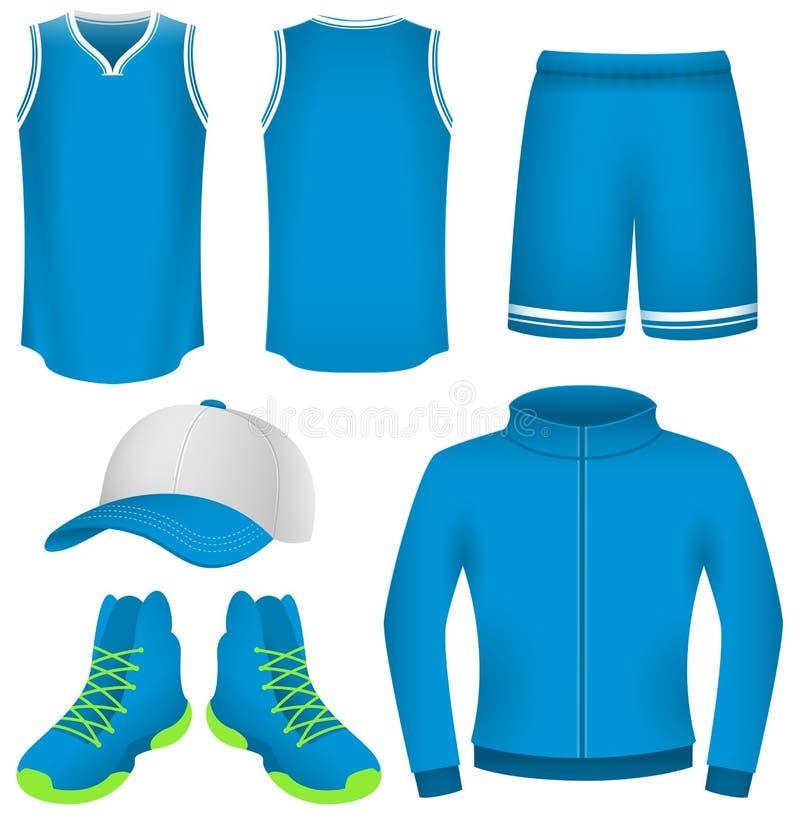 Jersey di pallacanestro, uniforme di pallacanestro, abiti sportivi royalty illustrazione gratis