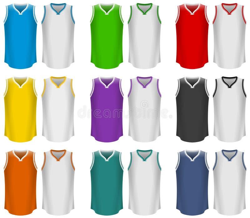 Jersey di pallacanestro, uniforme di pallacanestro, sport royalty illustrazione gratis