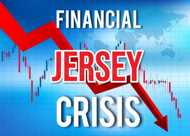 Jersey Financial Crisis Economic Collapse Market Crash Global Meltdown. Illustration vector illustration