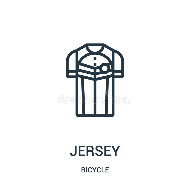 jersey icon vector from bicycle collection. Thin line jersey outline icon vector illustration. Linear symbol for use on web and vector illustration