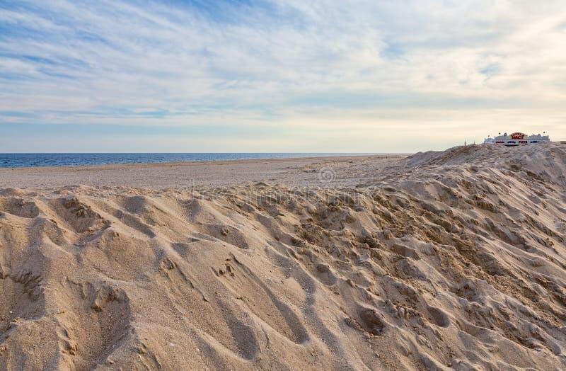 Jersey kuststrand arkivfoton