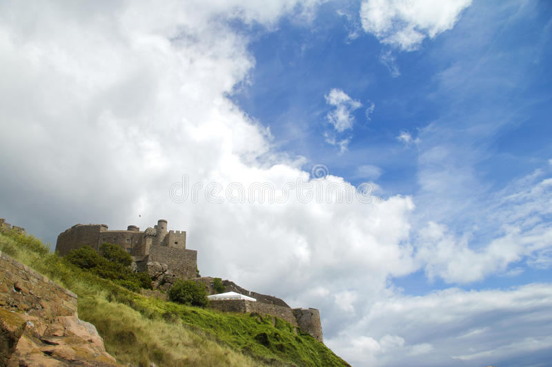 Download Jersey's Mount Orgueil Castle And Sky Stock Photo - Image: 15592222