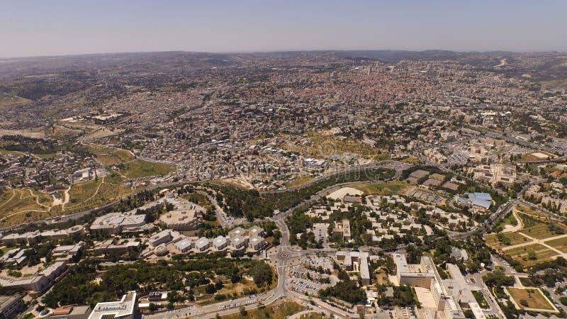 Jerusalém aéreo Israe imagens de stock royalty free