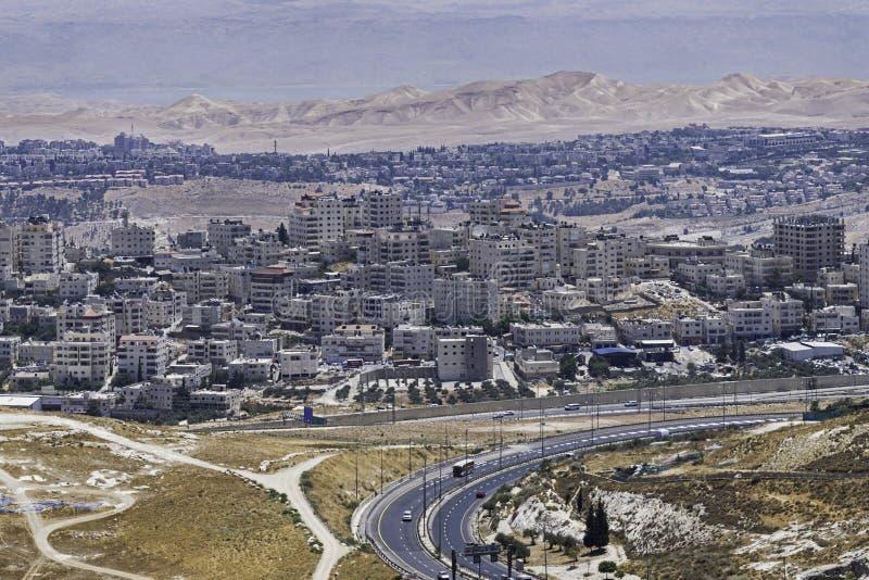 Jerusalém do leste de Mt Scopus em Israel foto de stock royalty free