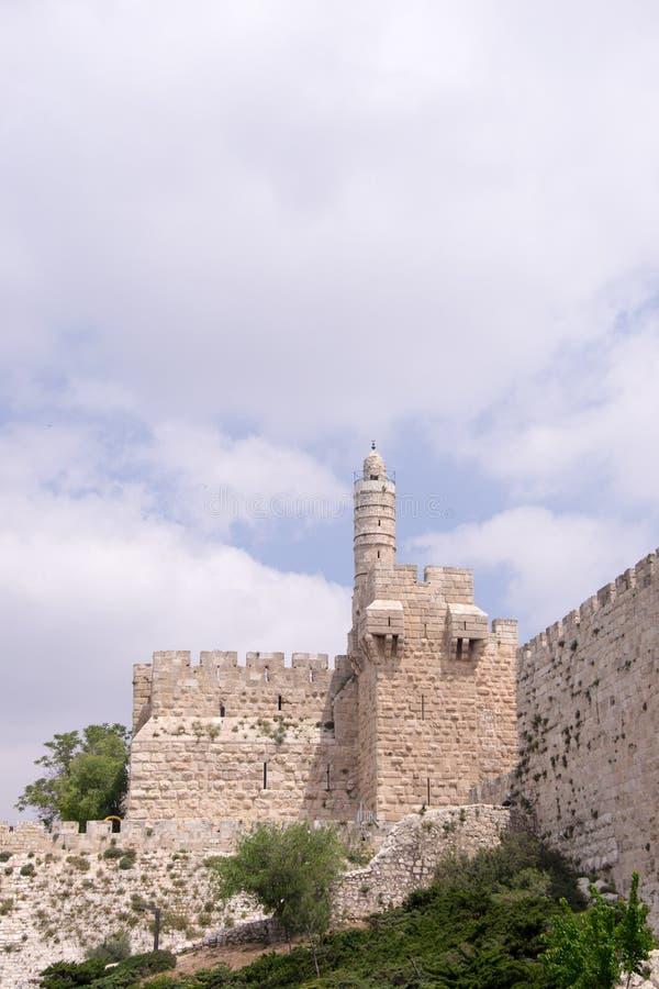 Jerusalém do Torre-símbolo do ` s de David imagem de stock royalty free