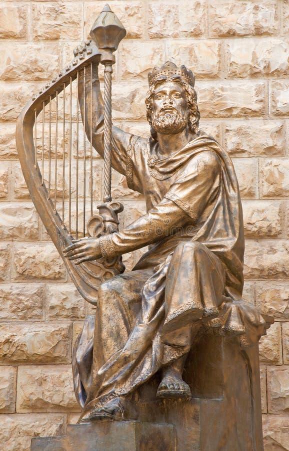 Jerusalém - a escultura do rei David dedicada ao befort israelita de David Palombo da escultura (1920 - 1966) o túmulo dos €™s do fotos de stock royalty free