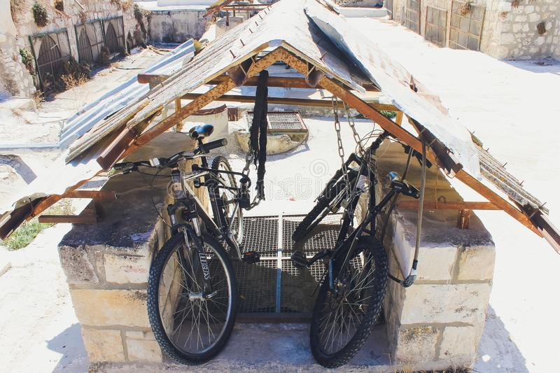 Jerusalém, Israel - 9 de outubro de 2018: Opinião do telhado, com o Temple Mount e outros monumentos, na cidade velha de fotografia de stock royalty free